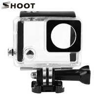 Водонепроницаемый чехол 30 м для GoPro Hero 4 3 + черно - серебристая экшн- камера с кронштейном, Защитный корпус для Go Pro 4, аксессуары