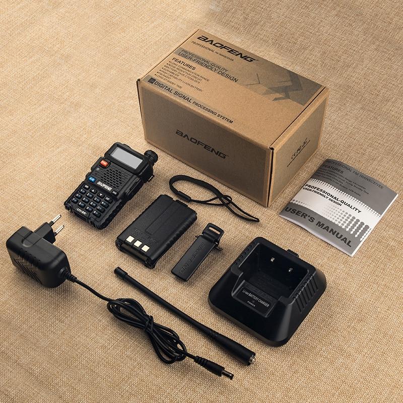 Купить с кэшбэком 4PCS Baofeng UV-5R 5W Walkie Talkie UV 5R Powerful Amateur Ham CB Radio Station UV5R Dual Band Portable Transceiver Hu