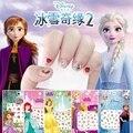 Disney Cartoon Gefrorene Prinzessin Elsa Anna Schnee Weiß Make-Up Nagel Aufkleber Minnie Mickey Meerjungfrau Stich Aufkleber Spielzeug Für Kinder