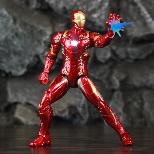 Avengers Civil War Iron Man Mark 43 Action Figure with Lights 6inch 3