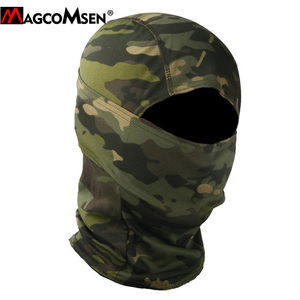Image 2 - MAGCOMSEN Tactical Camouflage Balaclava Full Face Cover Quick Dry Hunt Shoot Army Bike Helmet Military Equipment  Airsoft Gears