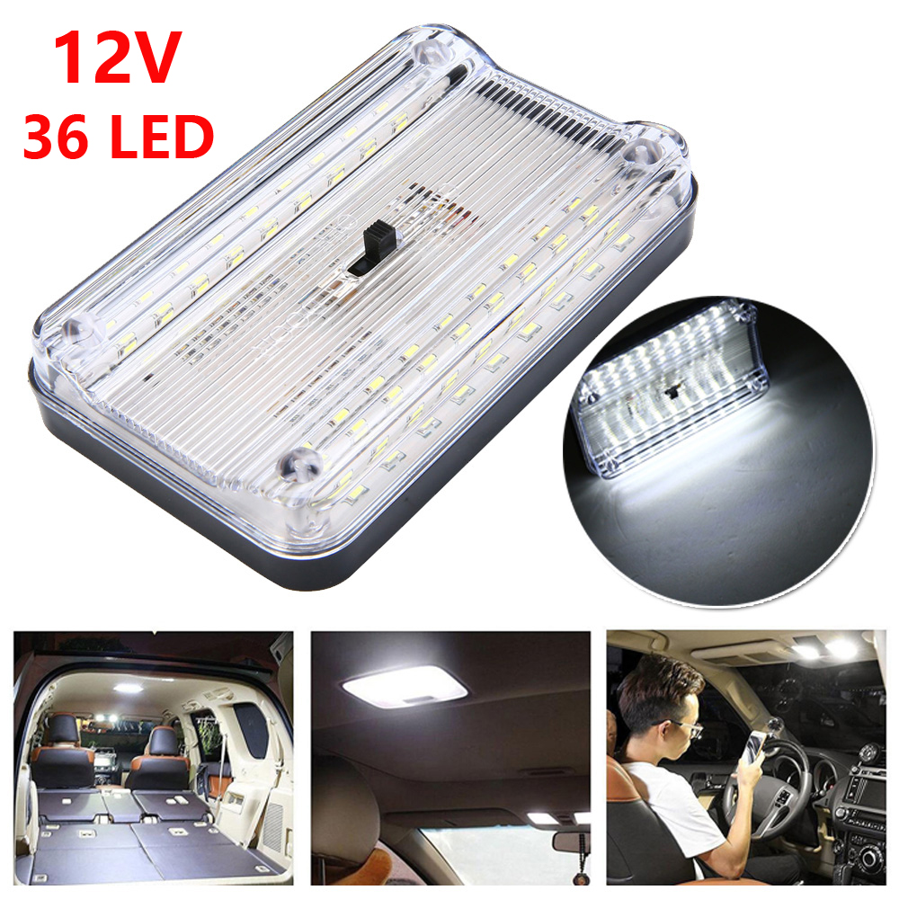 12V 36 LED Car Vehicle Interior Dome Roof Ceiling Reading Trunk Light Lamp Interior Light, Luggage Light