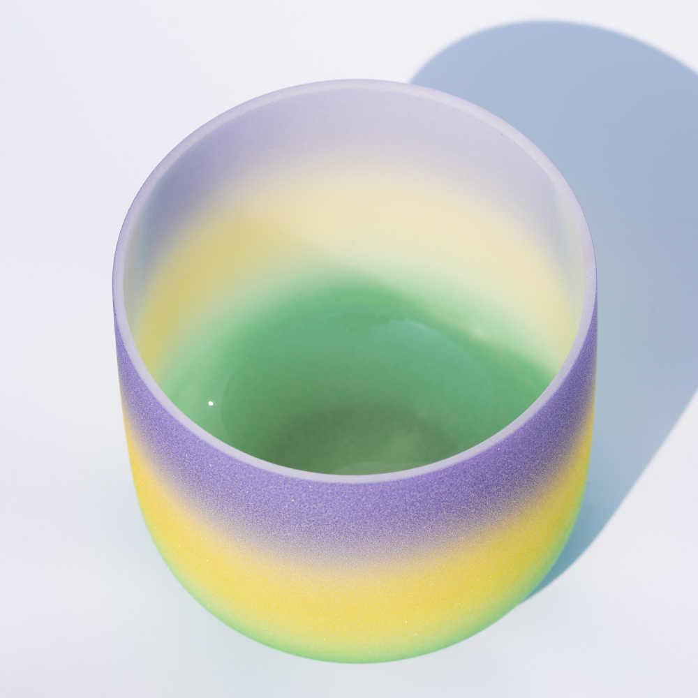 440 Гц 432 Гц 10 дюймов B Примечание Радуга Коронная Чакра кварцевый кристалл поющая чаша Медитация