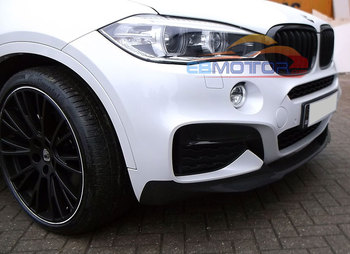 Real Carbon Fiber Front Lip Spoiler For BMW F16 X6 M-Sport 2014UP B269 image
