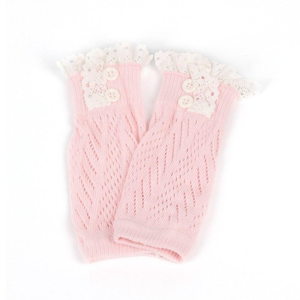 В европейском и американском стиле; модная удобная детская одежда для маленьких девочек вязаные крючком ботинки на шнуровке Теплые гетры; нарукавники гетры для малышей - Цвет: light pink