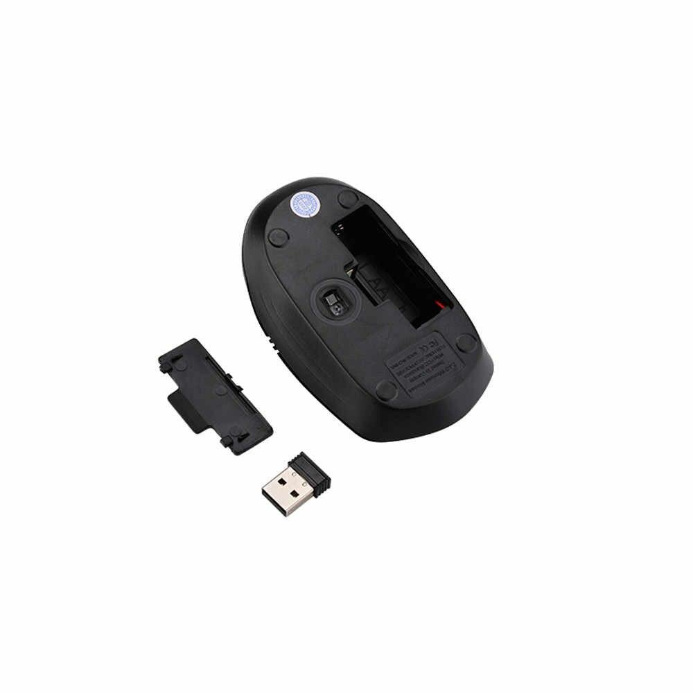 ใหม่ 2.4G Mini คีย์บอร์ดไร้สายและ Optical Mouse Combo สีดำสำหรับเดสก์ท็อป PC Gaming คีย์บอร์ดและเมาส์ชุด