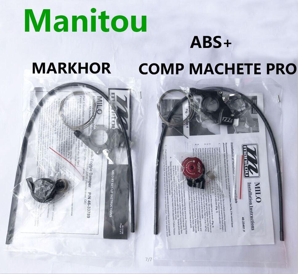Bicicleta Garfo Manitou Remoto Bloqueio ABS + para a Marvel/Comp/Machete/Pro & Markhor 26 27.5 29er tamanho da Forquilha MTB Bicicleta Garfo de suspensão ar