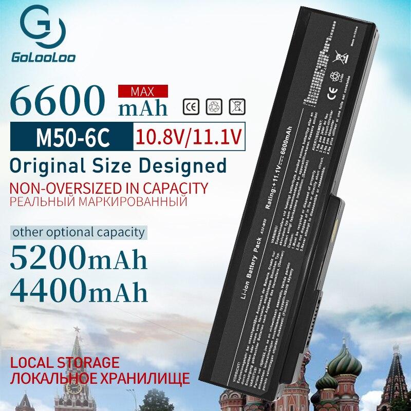 Bateria 4400mAh para ASUS A32-M50 Golooloo A33-M50 M50 N53S N53SV N53T N61 N53TA N61J N61D N61VG N43 N61JQ M50S n32-n61 N53J
