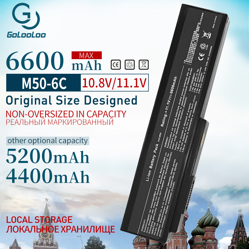 Golooloo 4400mAh Battery For ASUS A32-M50 A33-M50 M50 N53S N53SV N53T N61 N53TA N61J N61D N61VG N43 N61JQ M50S N32-n61 N53J