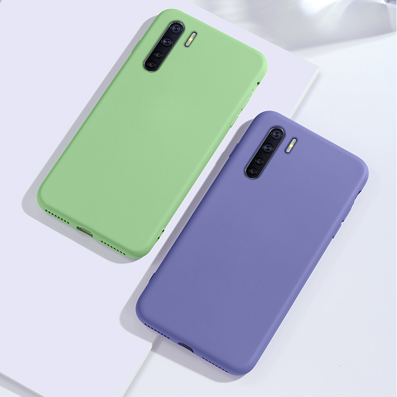 Slim Soft Casing For <font><b>OPPO</b></font> A91 A8 F15 A31 A52 A72 A92S / Reno 3 Phone <font><b>Case</b></font> Smooth <font><b>Liquid</b></font> Silicone Flocking Protective Back <font><b>Cover</b></font> image