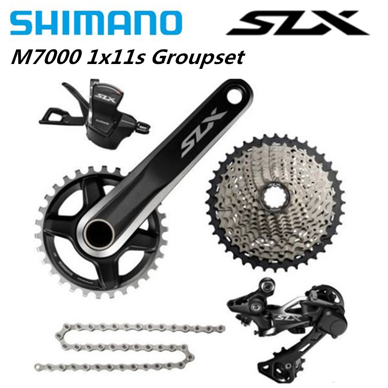 <font><b>SHIMANO</b></font> <font><b>SLX</b></font> <font><b>M7000</b></font> 1x11S 11S Speed <font><b>Groupset</b></font> and Hydraulic Disc Brake 170mm/175mm 32T 34T for MTB Mountain Bike image