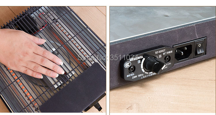 New Metro Kotatsu Heater U Shape Quartz tube Heater 600W MSU-601E K from Japan