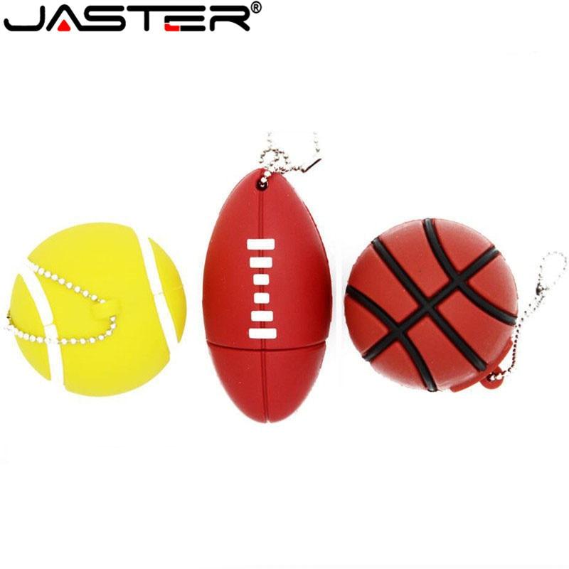 POWERONE Sports Ball Usb Flash Drive 64GB 16GB 32GB Memory Stick Basketball Pendrive Football Pendriver Tennis Usb Disk USB 2.0