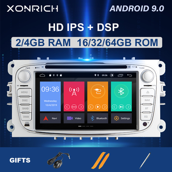 IPSDSP 4GB 64G 2 din Android 9 Car Radio Multimedia For Ford Focus 2 3 mk2 Mondeo 4 Kuga Fiesta TransitConnect S-MAXC-MAX 8 Core