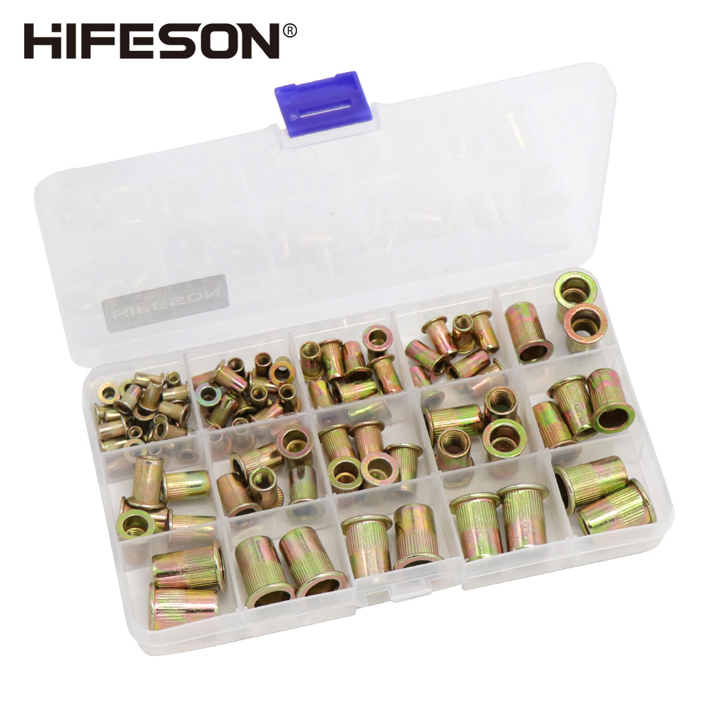 95Pcs And 300Pcs  Steel Rivet Nut Rivnut Insert Nutsert KIT M3 M4 M5 M6 M8 M10 For Rivet Nut Gun Riveting Riveter Tool