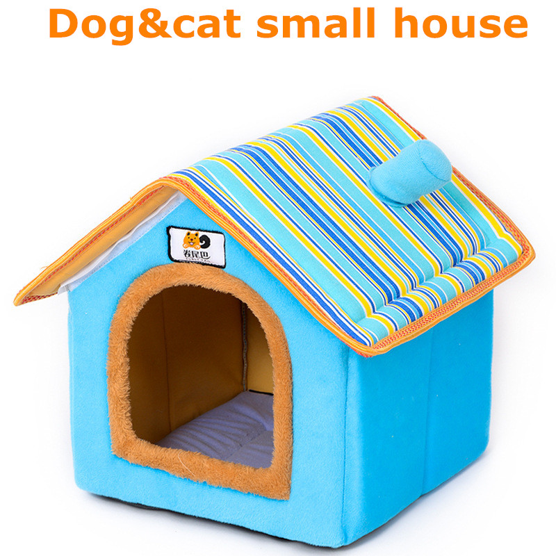 XS-L Pet Cat Dog Bed House Washable Waterproof &no Fade Small Pet House Hand Wash & Mechanical Wash Breathable Dogs Cage 1