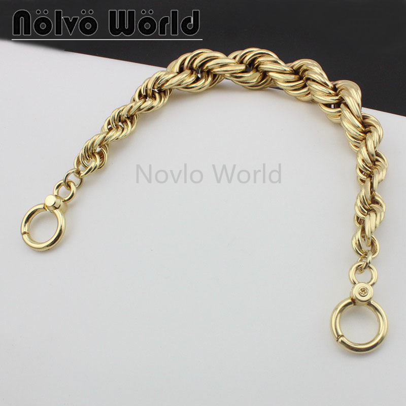 1 Piece Test, 31cm, High-grade Gold Metal Exclusive Chain Handbag Bags NEW Short Carrying Chains Handle
