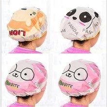цена на Waterproof Shower Cap Reusable Mask Hair Cap Hair Styling Beauty Hair Care Bath Cap Women's Hats