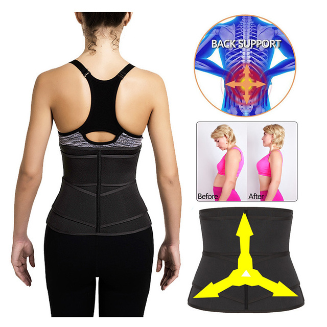 Women Waist Trainer Neoprene Belt Weight Loss Cincher Body Shaper Tummy Control Strap Slimming Sweat Fat Burning Girdle 4