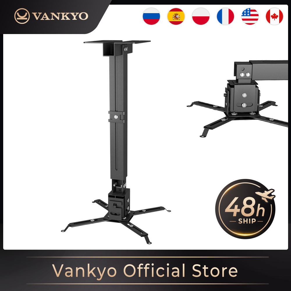 Vankyo Universal Projector Ceiling Mount Wall Bracket Holder Length Adjustable 15 degrees Rotate adjust Maximum loading 30 kg