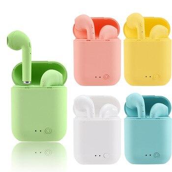 Headphones Mini-2 TWS Wireless Bluetooth Earphones 5.0 Headset Earphone TWS Matte Macaron Earbuds With Mic Charging Box i9s i7s mini tws earbuds true wireless earphone bluetooth earphones with charging box as powerbank noise cancel headset yz147