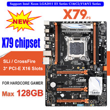 X79-P3 de canal cuádruple Deluxe X79 placa base ATX USB3.0 SATA3.0 LGA 2011 placa base Gaming apoyo placa base 128 GB DDR3 REG ECC(China)
