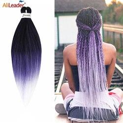Alileader nouveau Ez tresses pré-tendu cheveux 60 couleur pré-tendu tressage cheveux Ombre Crochet synthétique tressage Extensions de cheveux