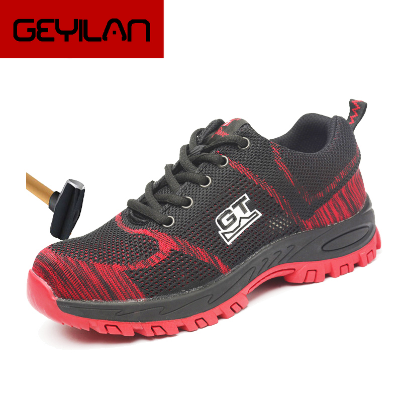 Safety Shoes For Men Steel Toe Plus Size Outdoor Work & Safety shoes seguranca do trabalho Camouflage Army Puncture Proof Unisex