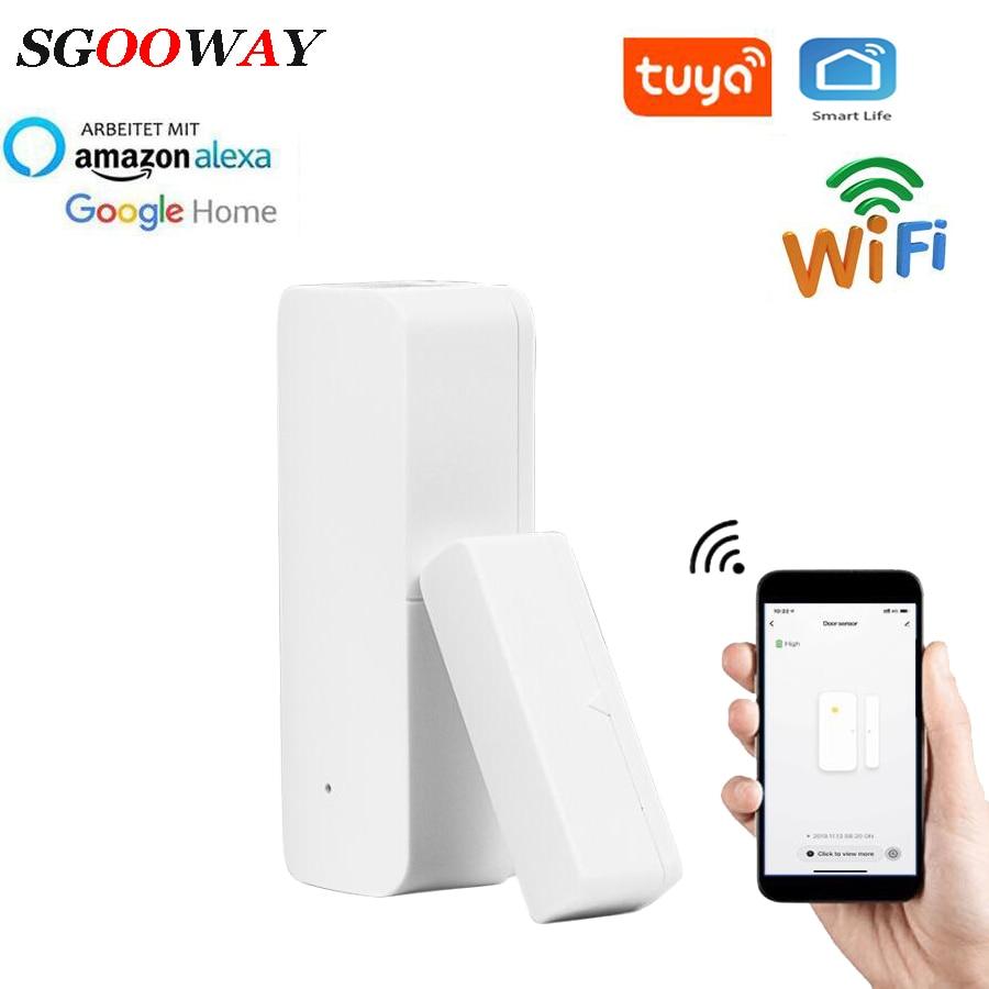 Sgooway Tuya Smart Wifi  Door Window Sensor Detector Alarm  Compatible With Smart Life IFTTT
