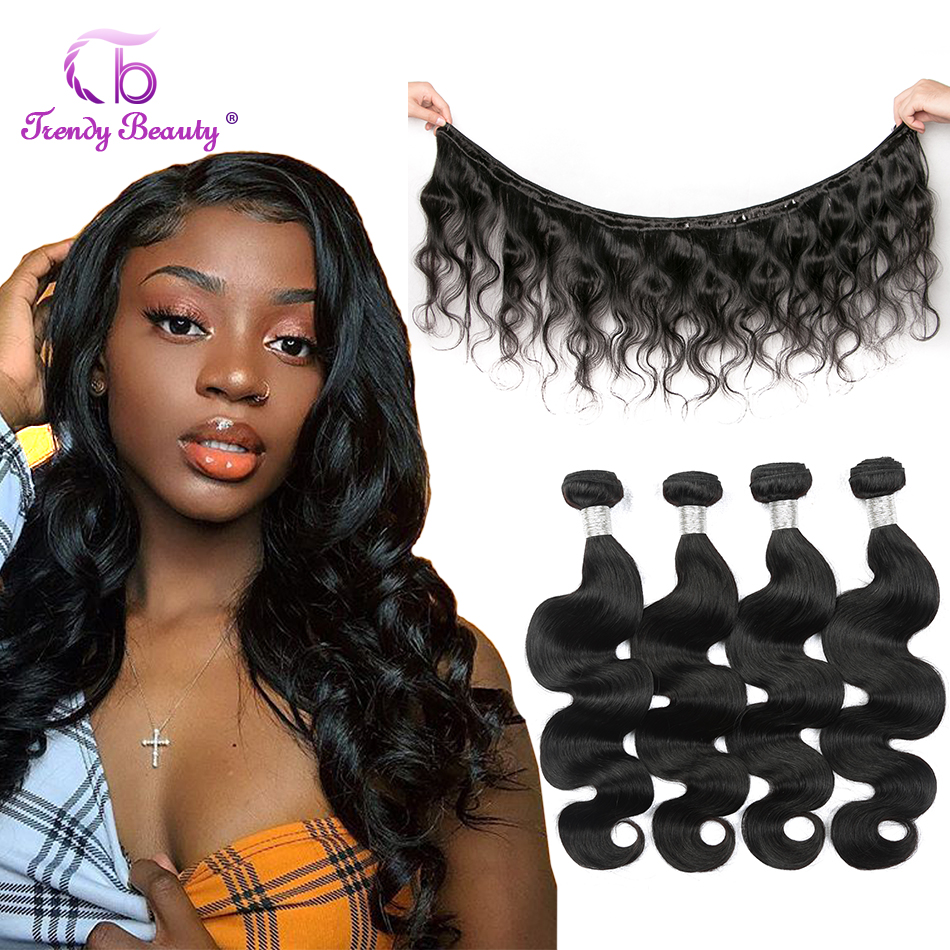 Brazilian Body Wave Hair 4 Bundles Per Lot From 8-30 Inches Trendy Beauty Human Hair Bundles Natural Black Color Free Shipping