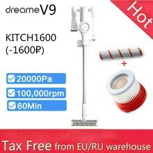 Aspirador inalámbrico Youpin Dreame V9, colector de polvo, inalámbrico, mi robot 20000Pa 120AW, limpieza de alfombras para el hogar