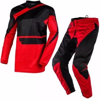 Free Shipping 2020 One Element Racewear Red motocross MX dirt bike gear - Jersey Pants combo set