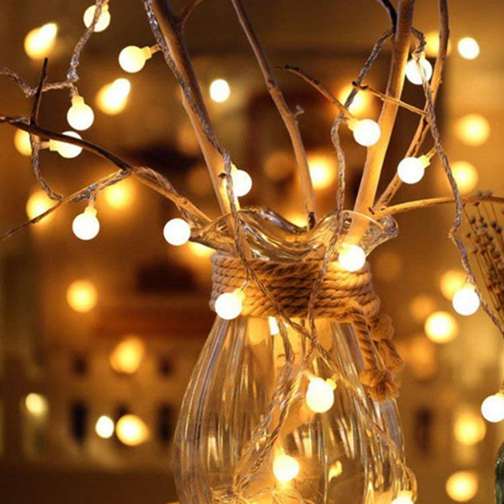 20 LEDs Garland LED Lamp Ball String Lights Waterproof Christmas Tree Wedding Home Indoor Decoration