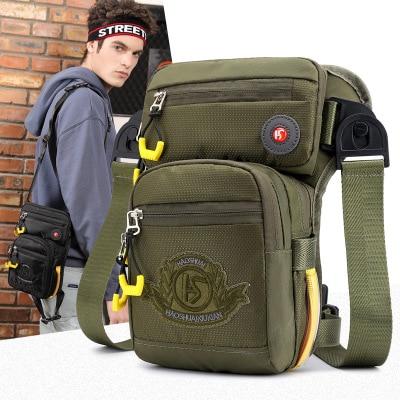 Многофункциональная уличная тактическая сумка для ног, Мужская Личная Противоугонная сумка с карманами, водонепроницаемая нейлоновая ткань, нагрудная сумка, сумка через плечо|Поясные сумки|   | АлиЭкспресс