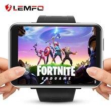 LEMFO — Montre connectée avec réseau 4G pour jeux vidéos, à grand écran de 2,86 pouces, GPS, WIFI, Android 7.1, moniteur de fréquence cardiaque, caméra et Sim, 3G RAM 32G ROM, LTE 4G pour hommes et femmes