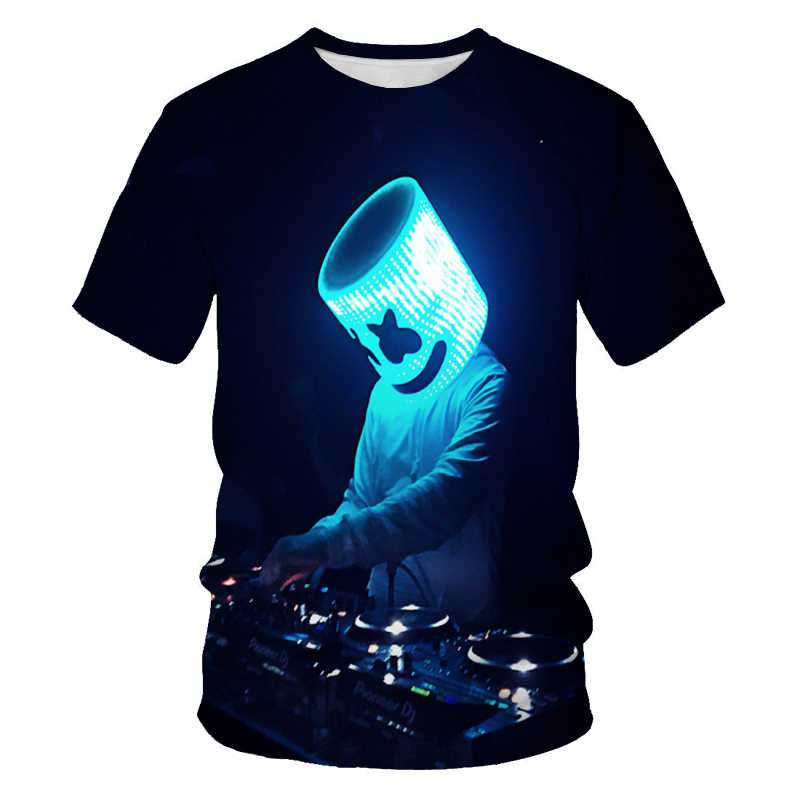 Mannen Disco Dj Rock Mannen 3DT-shirt Party Music Sound Activated Led T Shirt Light Up En Down Punk Knipperende equalizer Heren Tshir