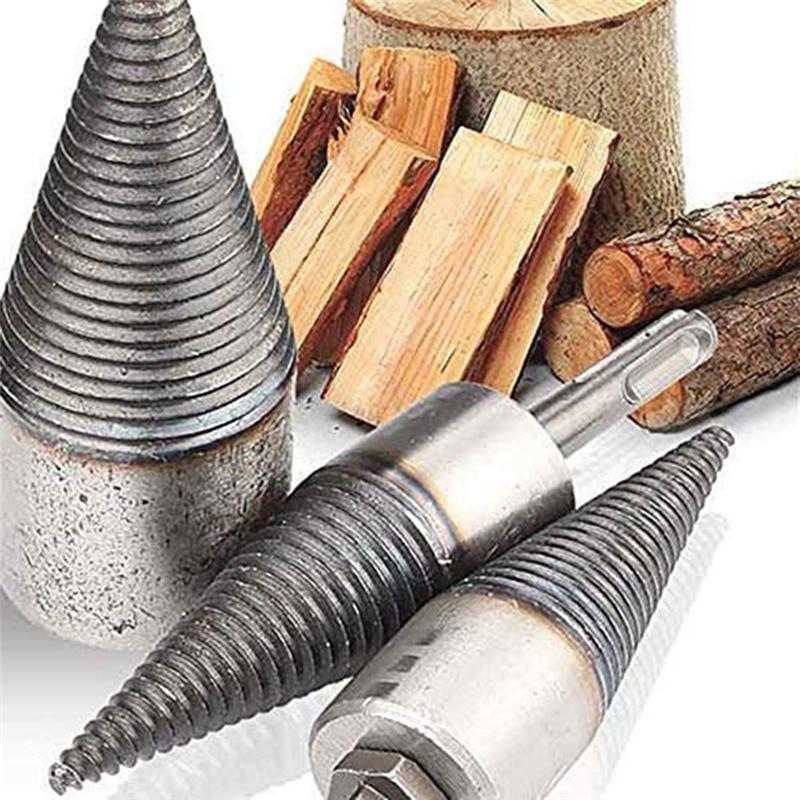 Drill Bit Chop Wood Splitting Tool Cone Log Splitters Breaking Machine Breaker Firewood Chopper Electric Hammer Drill