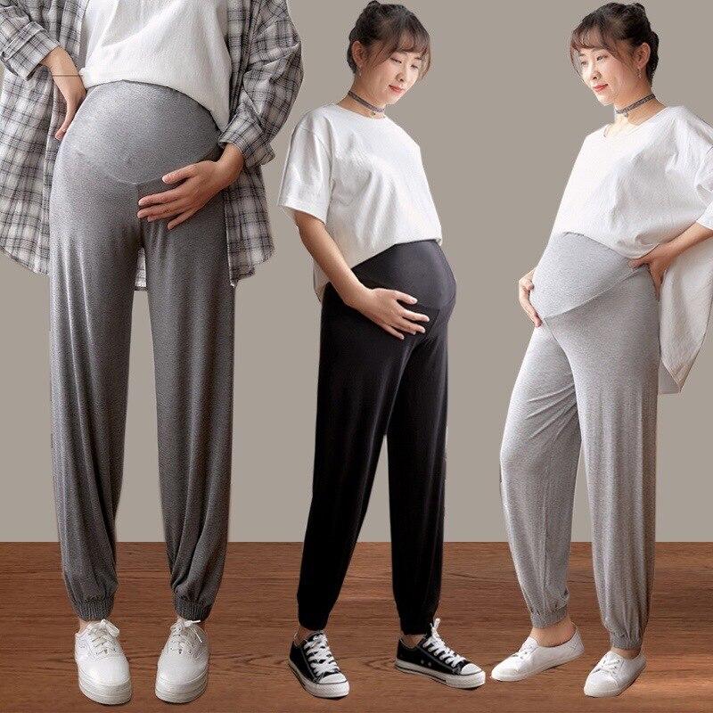 Pregnancy Pants Maternity Clothes Autumn Clothe Women Pregnant Bloomers Nine Points Loose Casual Fashion Leggings Harem Pant