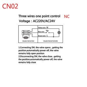 Image 5 - AC220V /24 فولت DC12V/24 فولت 2 طريقة النحاس صمام كروي مزود بمحرك الكرة الكهربائية صمام المحرك الكهربائي DN15 DN20 DN25 DN32 DN40