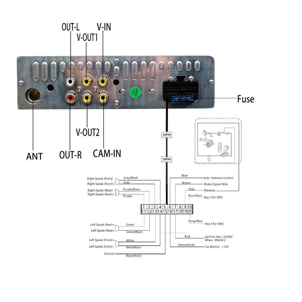Podofo One din Car radio MP5 Player GPS Navigation Multimedia car audio stereo Bluetooth 7 HD Retractable Autoradio AUX-IN FM (10)