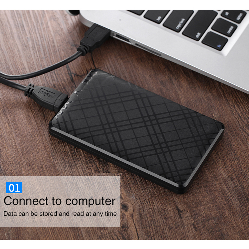 HDD Enclosure Cable-Support Hard-Drive-Box Mobile-Hdd-Case USB3.0 SATA2 UTHAI for