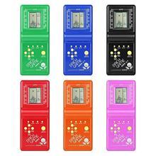 Классическая портативная игровая машина тетрис кирпичная игра детская игровая машина игрушка с воспроизведением музыки без батареи