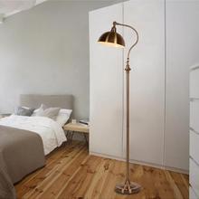 Lámpara de pie retro americana de calidad Superior, lámpara de noche para dormitorio, decoración de arte del hierro americano, lámpara de pie creativa