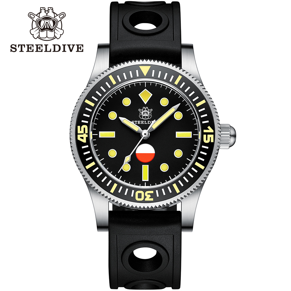 Steeldive SD1952T Japan NH35 Automatic Watches Ceramic Bezel Diving Wrist Watches Men 5