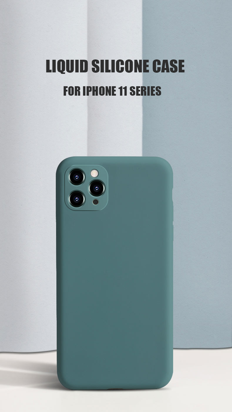 Liquid Silicone Phone Case With Precise Holes And Lens Protection for iPhone 11 Models 9