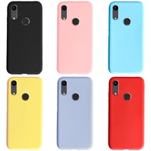 Candy Color Case For Huawei Honor 8A Case 6.09 Soft Silicone