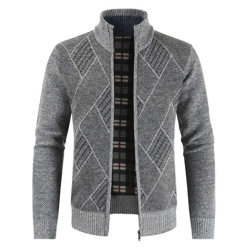 เสื้อผ้าผู้ชายผ้าฝ้ายซับ Man เสื้อกันหนาวบุรุษธุรกิจ Casual Cardigans ถักฤดูหนาวเสื้อ Mans เสื้อผ้าผู้ชายชายเสื้อ Outwear