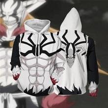 YINUODAIL Anime Bleach Hoodie Men and Women Zip Up Hoodies Sweatshirt Cosplay Costumes Harajuku Streetwear Top Clothes 2018