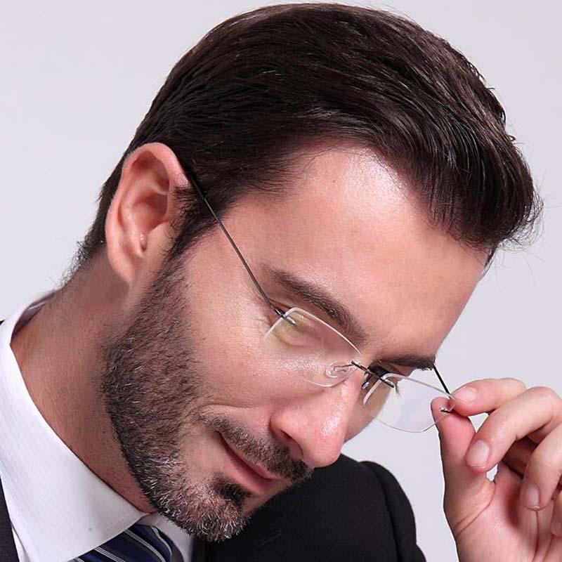 Очки компьютерные без оправы для мужчин и женщин, оптические складные, с защитой от сисветильник, в металлической оправе, UV400