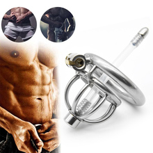 Stainless Steel Chastity Cage Bird Locks Restraint Toys For Male Adults Hypoallergenic A282-2